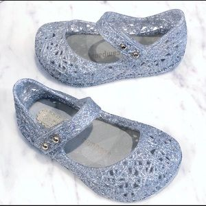 Mini Melissa Girls Campana Zig Zag Jelly Shoes 5